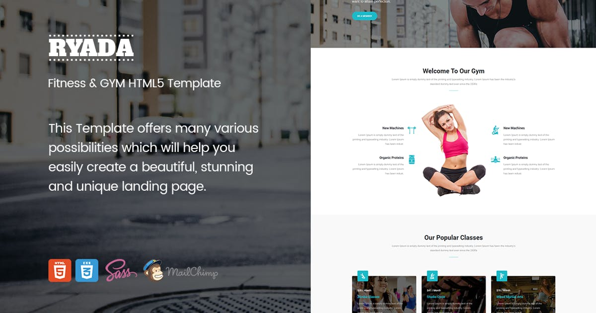 Download Ryada - Fitness & GYM HTML Landing Page Template by ExplicitConcepts