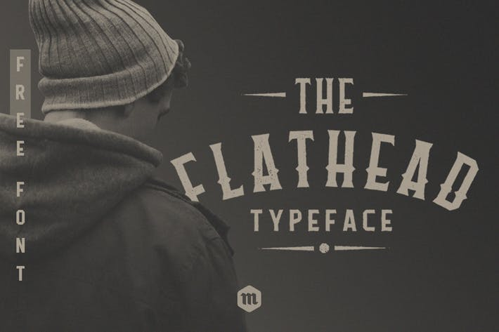 Cover Image For Flathead Typeface|Vintage Font