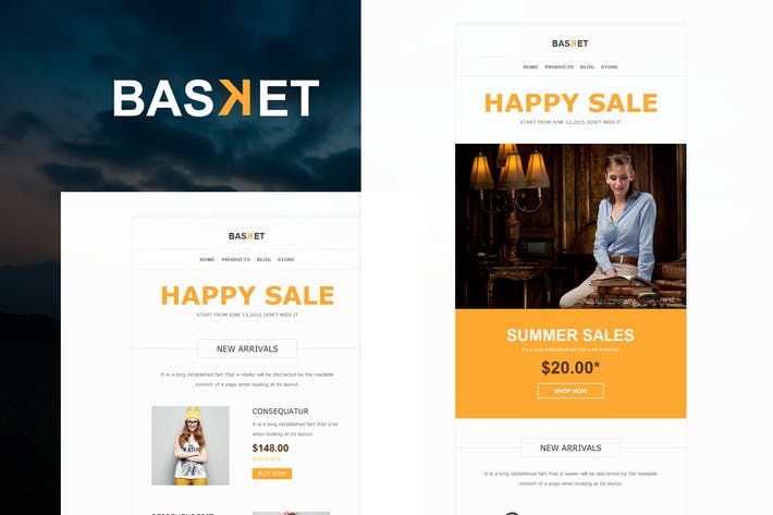Thumbnail for Basket - eCommerce Responsive E-mail Templates