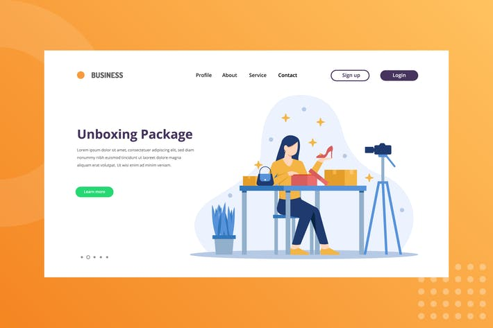 Thumbnail for Unboxing package Landing Page