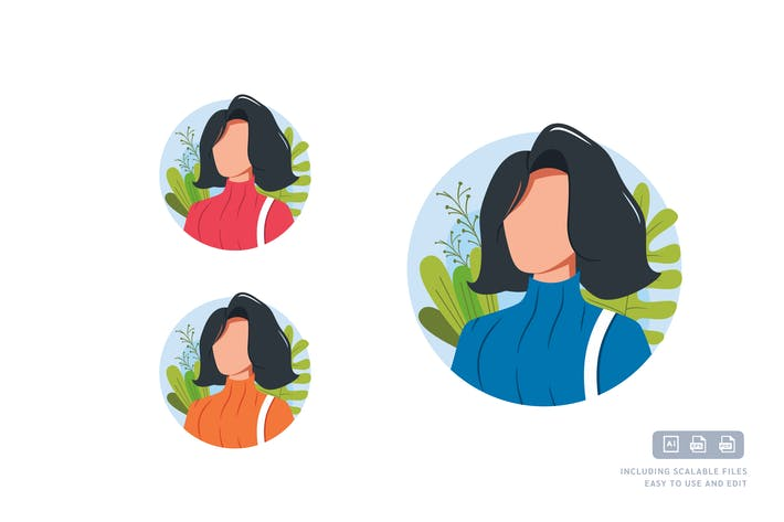 Thumbnail for Career Woman - Avatar Ilustration Template