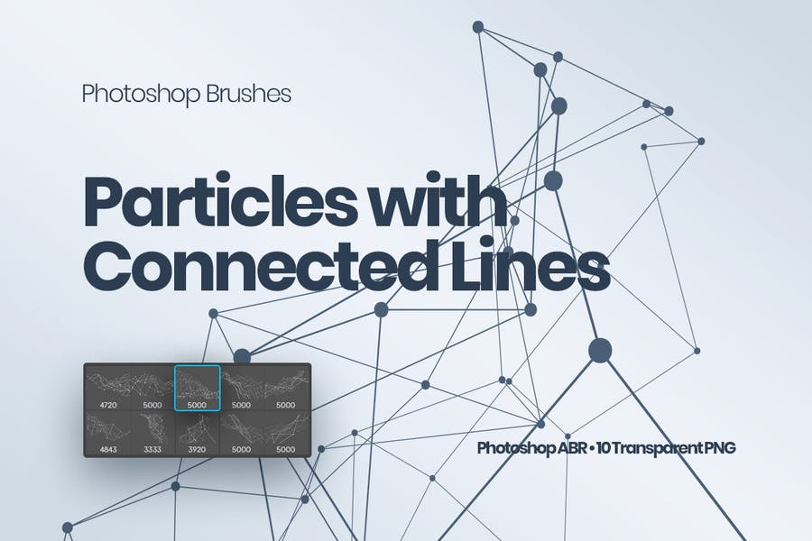 Particles with Connected Lines Photoshop Brushes