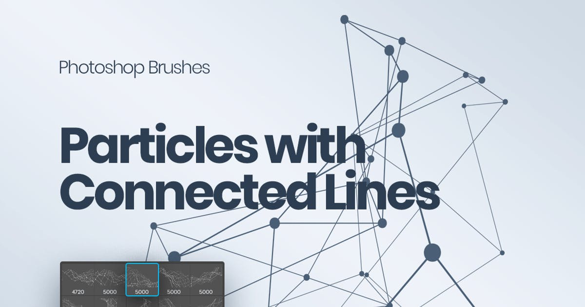 Download Particles with Connected Lines Photoshop Brushes by themefire