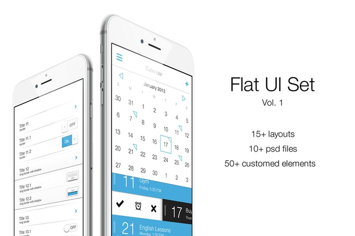 Thumbnail for iOS Flat UI Set Vol. 1