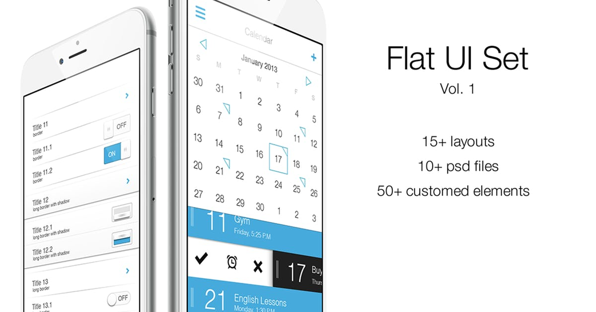Download iOS Flat UI Set Vol. 1 by Unknow