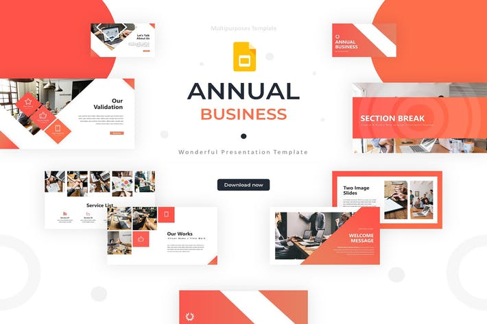 Thumbnail for Annual Business - Google Slides Template