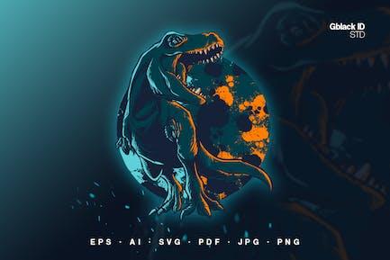 Dark Tyrannosaurus