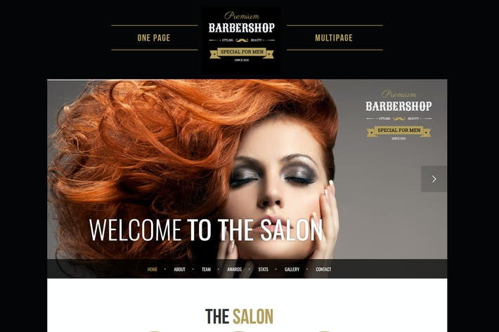 Thumbnail for BarberShop - Hair Saloon Spa Tattoo HTML Template