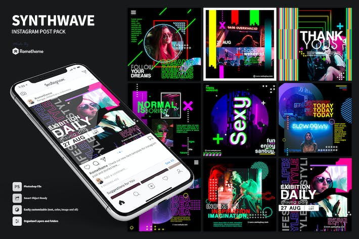 Thumbnail for Synthwave - Activity Instagram Post HR