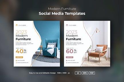 Instagram-Post-Banner für moderne Möbel