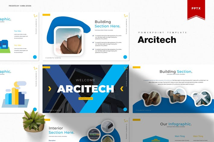 Thumbnail for Arcitech | Powerpoint Template