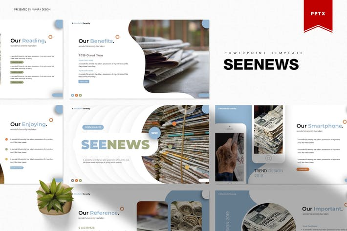 Thumbnail for Seenews | Powerpoint Template