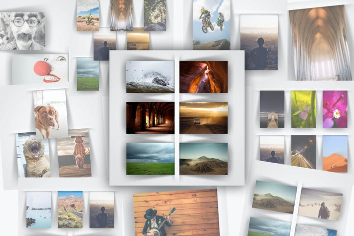 Thumbnail for Modern Rectangle Photo Frame Templates