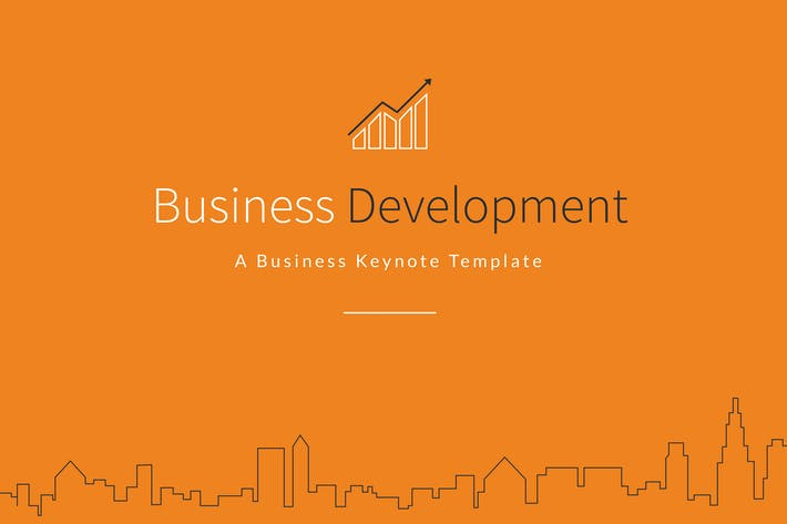 Cover Image For Business Development Keynote Template