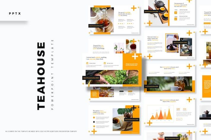 Чайный дом - Шаблон Powerpoint