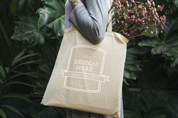 Cover Image For Women Tote Bag Mockup