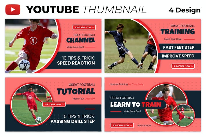 Soccer Training Youtube Thumbnail Template