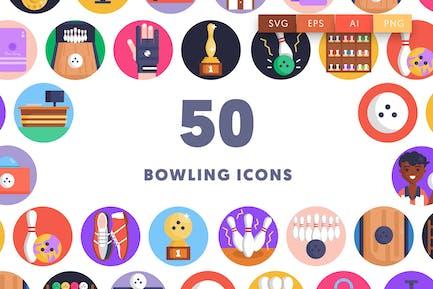 50 Bowling-Symbole