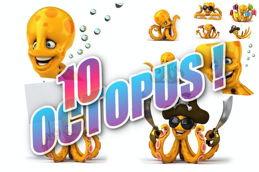 10 fun Octopus !
