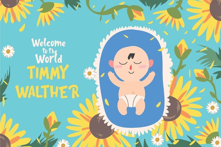 Thumbnail for welcome baby - Vector Illustration