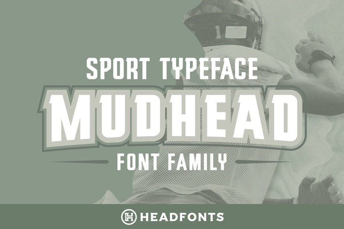 Thumbnail for Mudhead Family | Sports Display Font