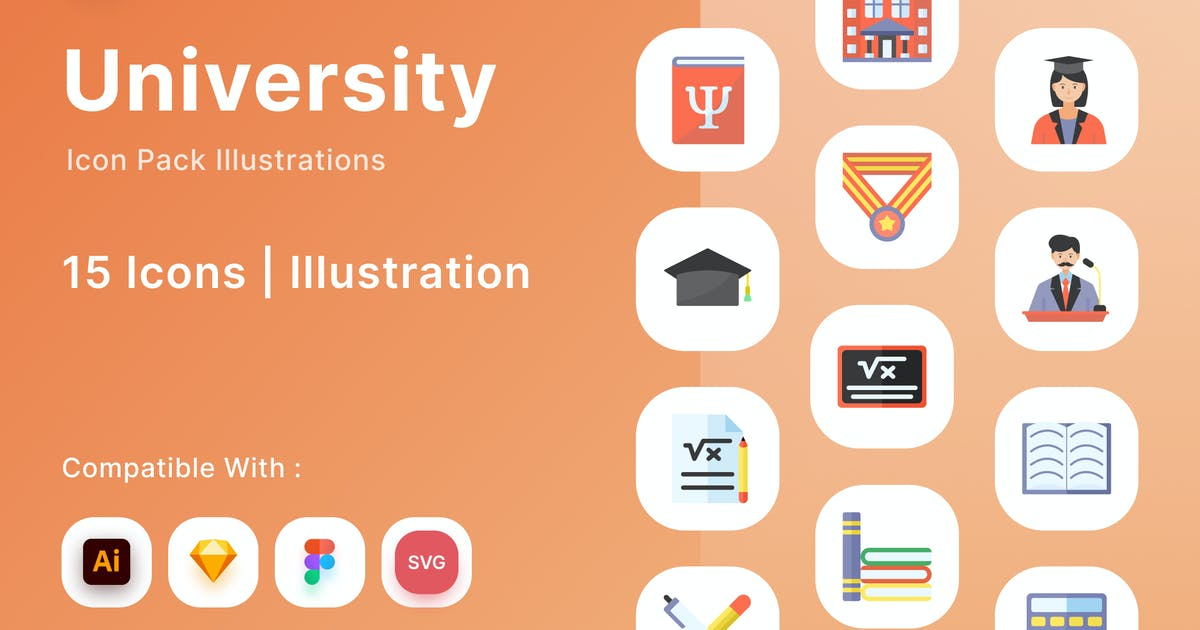 Download University Icon Pack by DimoGraphic