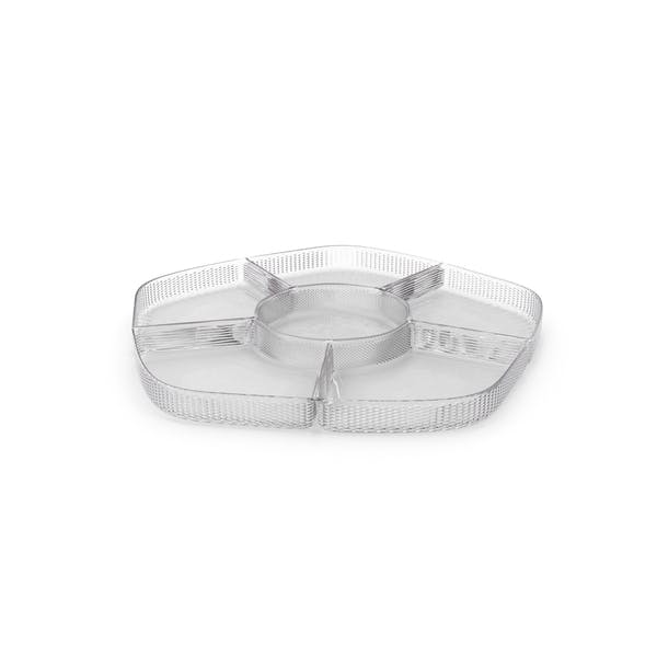 Thumbnail for Crystal 6 Compartment Bowl
