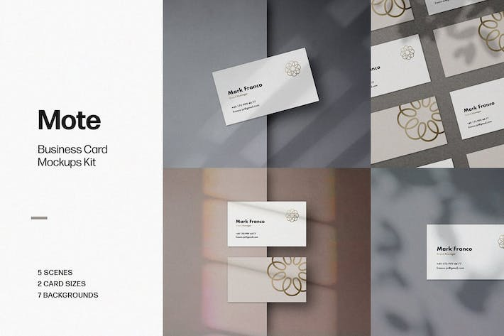 Thumbnail for Mote Business Card Mockups