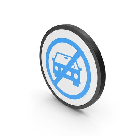 Icon No Car Blue