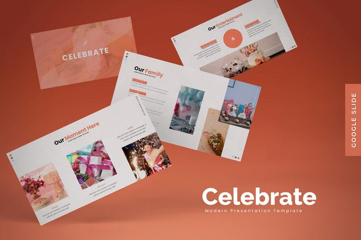 Thumbnail for Celebrate - Google Slides Template