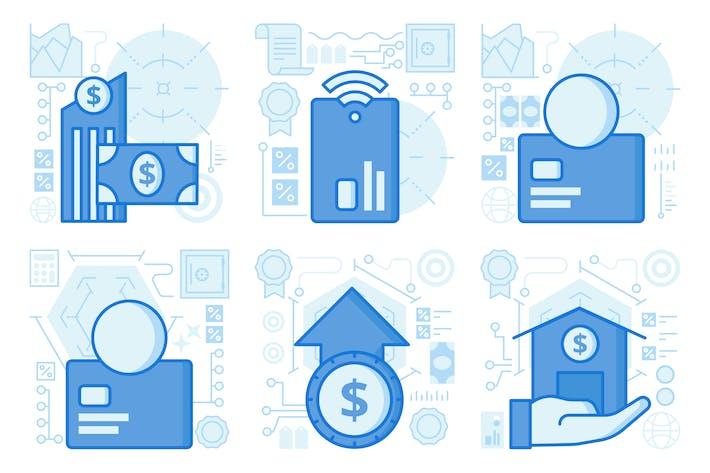 Thumbnail for UX Illustrationen für Bankauszahlungen