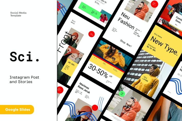 Thumbnail for Городская мода Instagram комплект Google слайды Шаблон