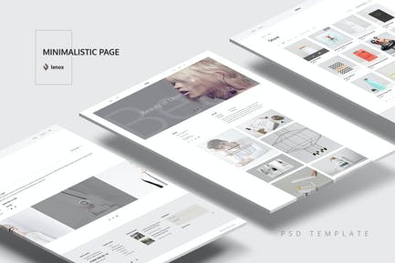 Page minimaliste