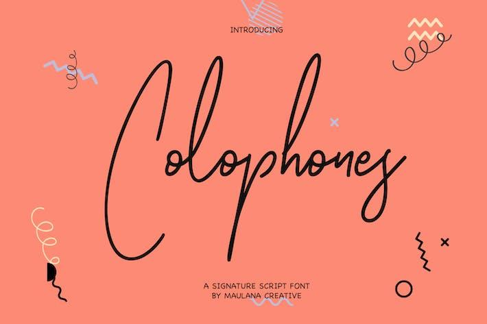 Thumbnail for Colophones Signature Script Fuente de caligrafía