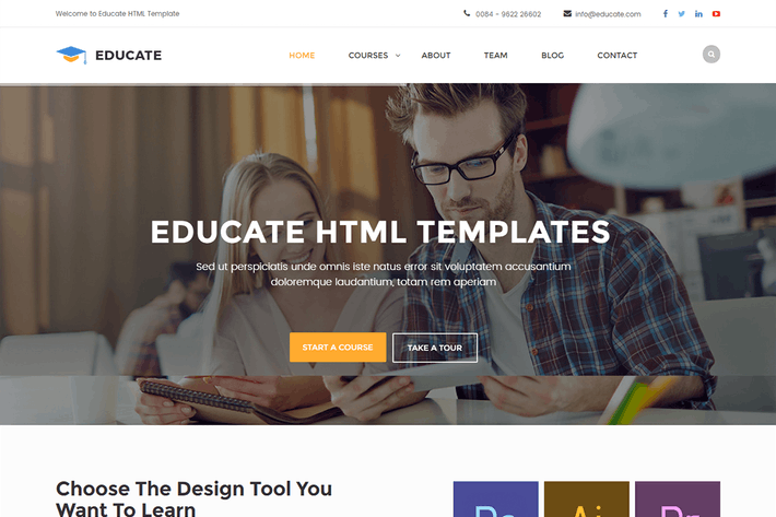 Thumbnail for Educate - Education HTML Template