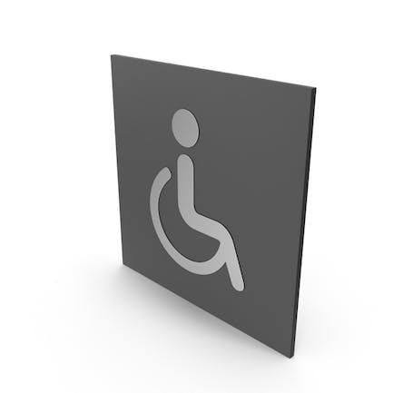Señal de baño para discapacitados