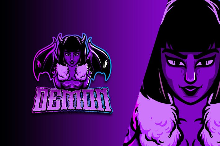 Thumbnail for Bad Girl Esport Logo Vol. 2