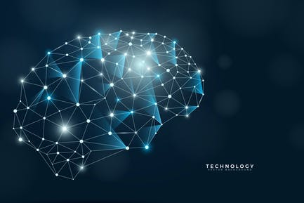 Technology Brain Background