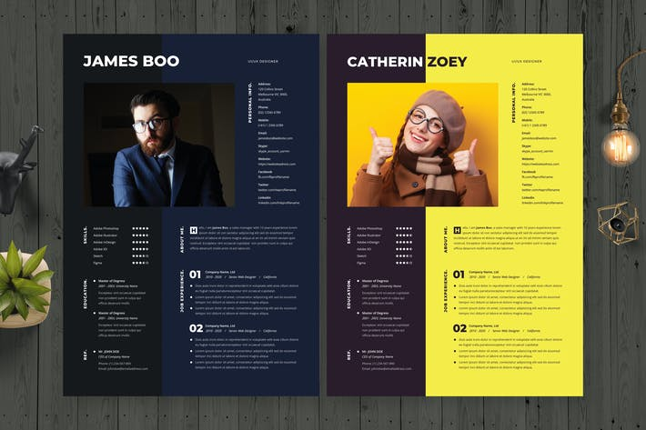 Thumbnail for Fullcolor Resume / CV Template 31