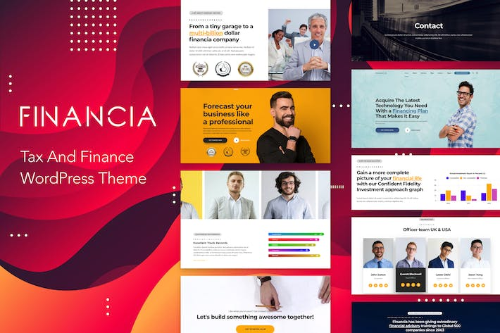 Thumbnail for Financia - Tax and Finance WordPress Theme
