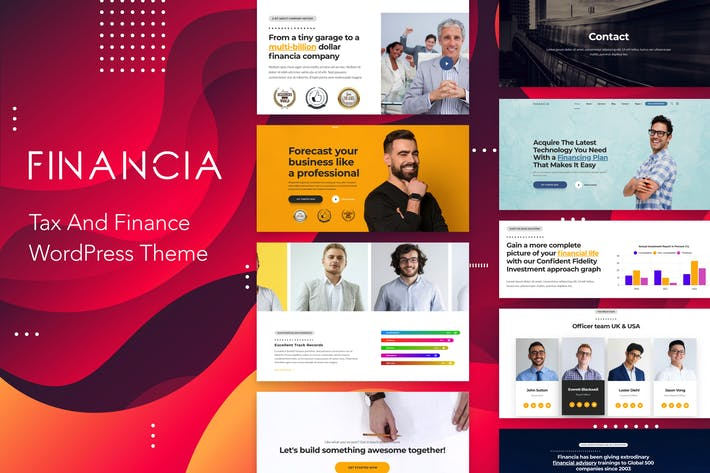 Cover Image For Financia - Tax and Finance WordPress Theme
