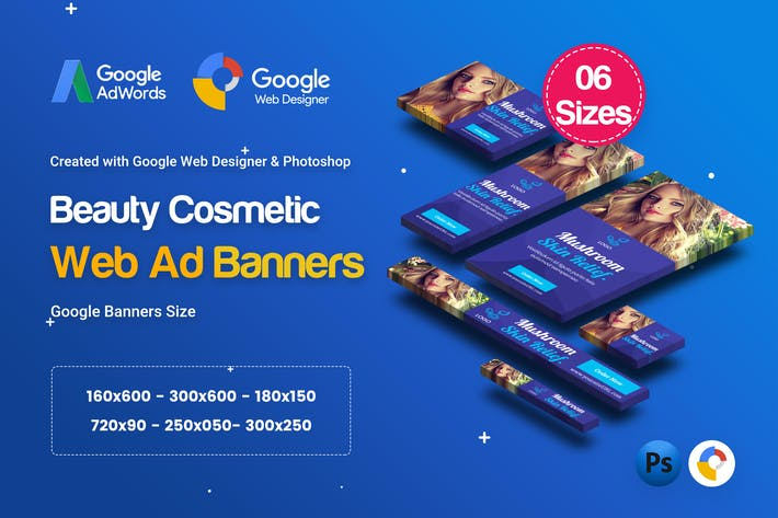 Thumbnail for C17 - Cosmetic Banners HTML5 - GWD & PSD