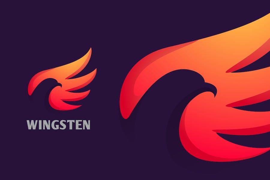 Negative Space Bird Logo