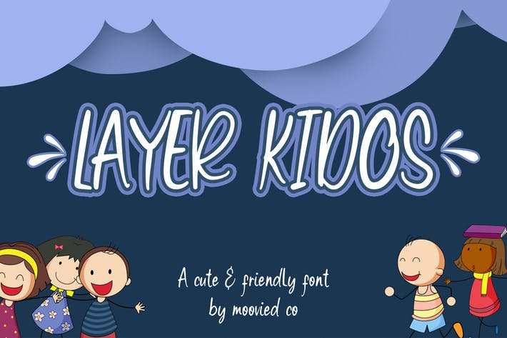 Thumbnail for Layer Kidos Kids Font