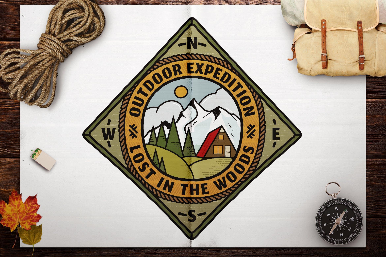 Retro Travel Emblem / Vintage Camping Logo / Patch by