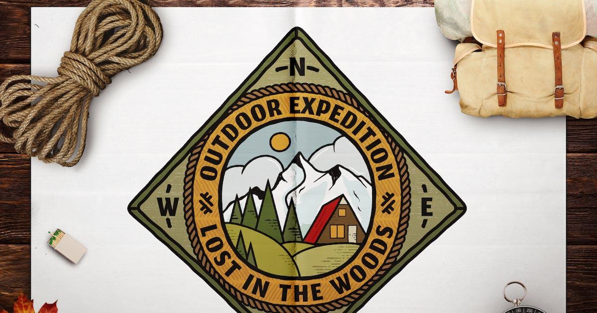 Download Retro Travel Emblem / Vintage Camping Logo / Patch by JeksonJS
