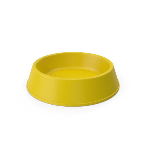 Pet Food Bowl Yellow