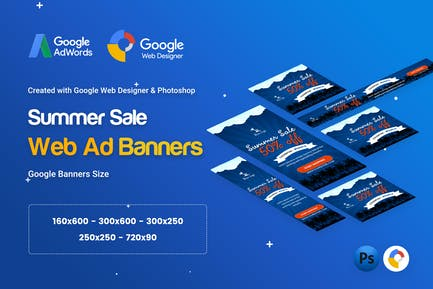 Summer Sale Banners Ad - GWD & PSD