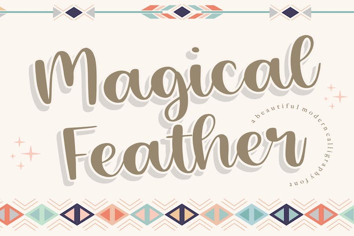 Thumbnail for Magical Feather Caligrafía Fuente YH