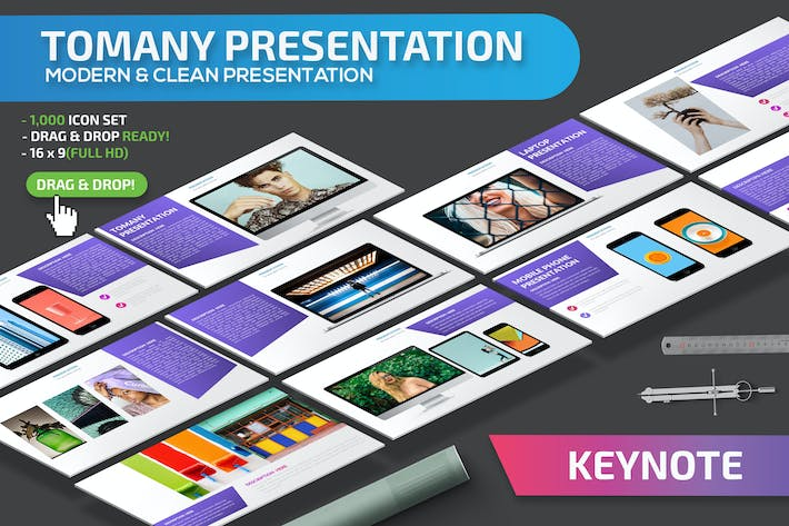 Cover Image For Tomany Keynote Presentation Template